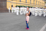 Saint Petersburg, Naval parade training for the Day of the Navy celebration