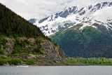 Portage Lake and the road to Whittier
