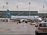 Air Dolimiti E195 pushback from gate at Munich