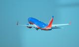 Aircraft light up the sky