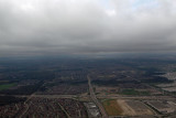Threating skies as we land at Toronto Lester Pearson Airport