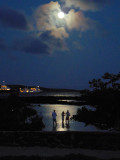 A moonlight evening at the Finch Bay Hotel