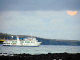 The cruise ship in the bay, Peurto Ayora, Galapagos