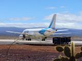 At Baltra airport, Galapagos
