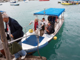 The water taxi, or panga, for the Finch Bay Hotel