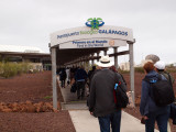 Pathway to the Baltra Airport Terminal, Galapagos Islands