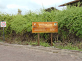 Sign near the entrance to the Charles Darwin Research Center, Puerto Ayaro, Galapagos