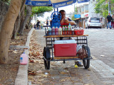 Refreshment on a Puerto Ayora street in the Galapagos Islands