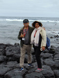 On a rocky shore on the Galapagos