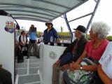 On the boat to Playa de los Perros, Galapagos Islands