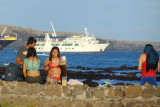 On the beach in a cove in front of Finch Bay Hotel, Galapagos
