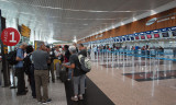 Checking in in Guayaquil for trip to the Galapagos