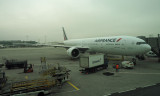 Aircraft for flight from Paris to Dulles airport