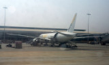 At Bangalore Airport - looks like at Boeing 777 freighter
