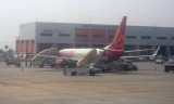 At Bangalore airport - Spicejet Boeing 737