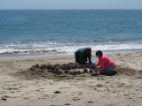 Sandcastles on Seabright beach, Santa Cruz