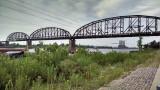 Rail bridge across the Mississippi at St. Louis
