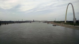The Mississippi river from the Eads bridge