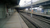 East St. Louis metro stop on the other side of Eads bridge