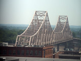 MLK bridge across the Mississippi from the apartment