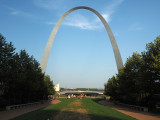 The recently finished plazz in front of the Arch, St. Louis