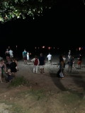 Peope celebrating Loy Krahtong