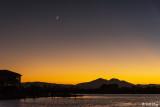Mt. Diablo Sunset with moon  1