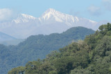 yungas and snow-covered peak