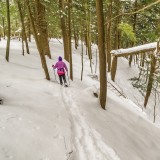 Snowshoeing at Wesley Hill Nature Preserve