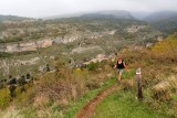 Hiking back