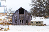 This barn has seen a lot of activity in it's day but on this cold Christmas day it is providing little protection. But in its day ...
