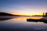 Dawn at Clearwater lake with boats