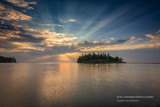 Sunrise at Ellingsen Island, Split Rock Lighthouse