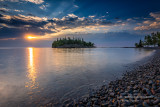 Sunrise at Ellingsen Island, beach