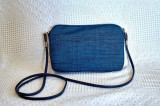 Dark blue silk pouch
