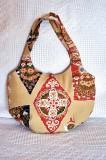 Silk round bag