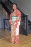 Wearing a kimono J