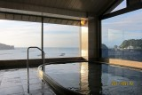 Onsen at the top of the building