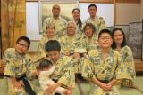 Family in onsen ryokan