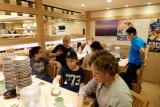 at kaiten sushi in Shibuya