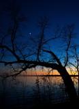 Crescent Moon over Lake Bemidji