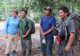 Michele and three of our Harpy Guides!!!