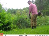 jonCarlo Whacking the Lawn in Vermont