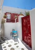 Mykonos red doors