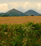 The Lawley , foreground, and Caer Caradoc 459m.