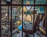 Navigator-Cockpit der Antonov AN-22, eines der größten Propellerflugzeuge der Welt