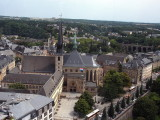 View on Luxembourg City with Cathédrale Notre Dame