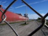 Very big ship entering lock 2