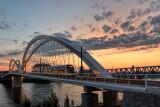 Le nouveau pont BEATUS RHENANUS pour le tramway entre Strasbourg en France et Kehl en Allemagne