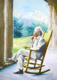 Mark Twain With Cigar